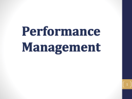 Performance Management - Agriculture and Natural Resources