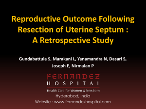 reproductive outcome following resection of uterine septum