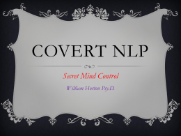 Covert NLP - Secret Mind Control