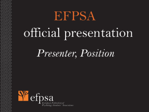 EFPSA official presentation