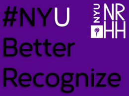 NYU Better Recognize!