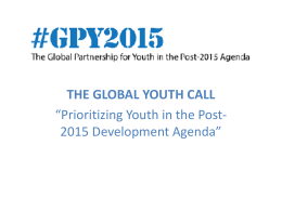 the global youth call