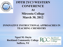 Innovative Instructional Approaches in Teaching Chemistry