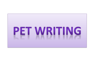 PET WRITING - sek-eso