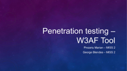 W3AF – Comparison with other tools