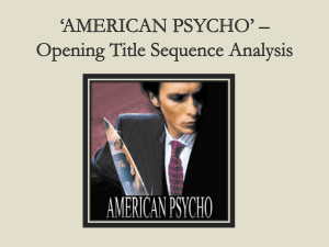 *AMERICAN PSYCHO* * Opening Title Sequence