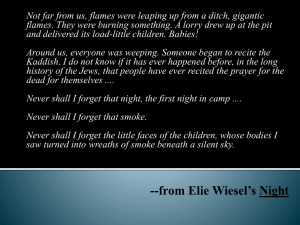 --from Elie Wiesel*s Night