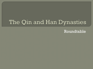 the qin and han dynasties rountable - Har