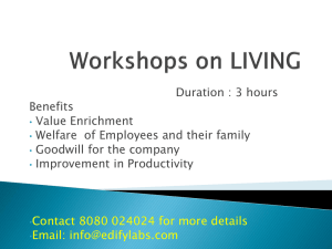 Workshops on LIVING
