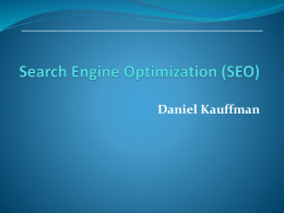 Google SEO Search Engine Optimization Introduction Powerpoint