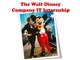 Why did I choose placement at Disney?