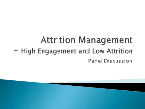Attrition Management- High Engagement and Low