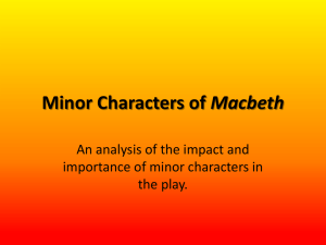 Week 5 Lesson 2 Minor Characters of Macbeth Day