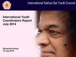 Youth Report - International Sri Sathya Sai Organization