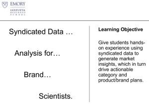 Syndicated Data Analysis