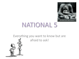 NATIONAL 5 everything you want to know!