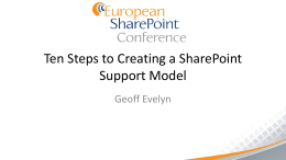 Ten Steps to to Creating a Successful SharePoint