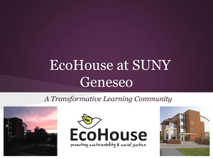EcoHouse at SUNY Geneseo