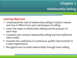 Team Selling - selling: the profession