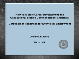 New York State Career Development and