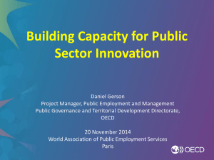Why public sector innovation?