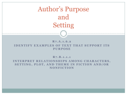 All Summer in a Day: Author`s Purpose PPT