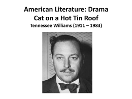Cat on a hot tin roof final