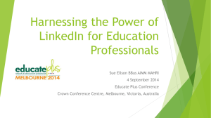 Harnessing the Power of LinkedIn for Education