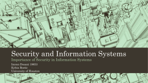 Security and Information Systems