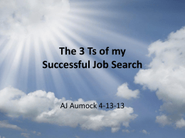 3T`s in Personal Branding