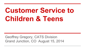 Customer Service to Children & Teens