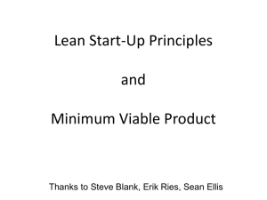 Lean Startup Principles & Minimum Viable Products