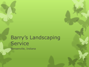 Barry`s Landscaping Service by Chandler Jones