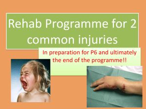 Rehab programme for 2 common injuries PPT