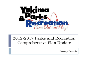 Parks and Recreation Survey Results Powerpoint