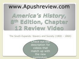 America`s History Chapter 12