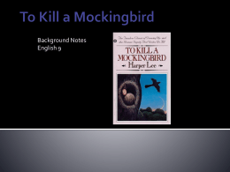 To Kill a Mockingbird - Pennsbury School District