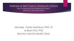 Wellness & Self-Care - The Graduate School