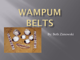 Wampum Belts