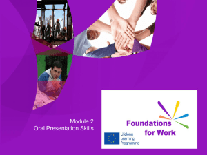One - Foundations For Work