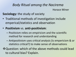 Body Ritual among the Nacirema Horace Miner