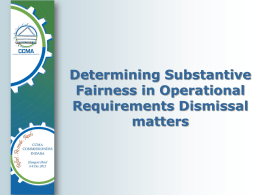 Determining substantive fairness in operational