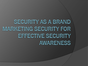 Security As A Brand Marketing Security For Effective Security
