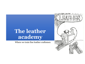 The Way - the SA Leather Academy