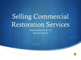 Selling Commercial Work