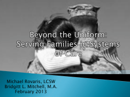 Systems of Care and Military Families