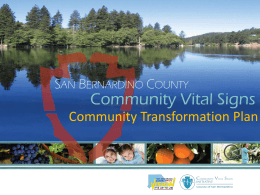 Access to Health and Wellness - Community Vital Signs Initiative