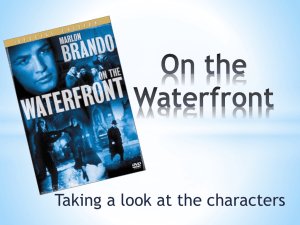 On the Waterfront-characters - Year12VCE