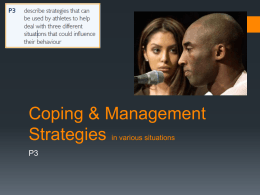 Coping & Management Strategies