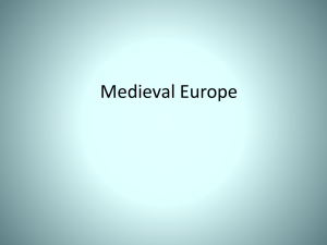 Chapter 10 Europe in the Middle Ages